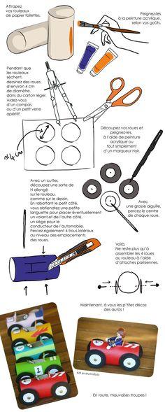 DIY voitures rouleaux