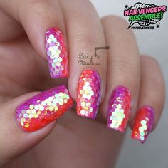 Nailvengers Assemble! - Glitter Placement Nail Art (via Bloglovin.com )