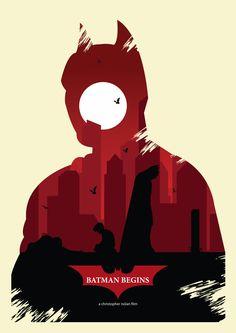 Batman series inspired by Olly Moss by Ryan Cornyn, via Behance Batman Poster, Batman Comic Art, Batman And Superman, Batman Robin, Batman Arkham, Dc Comics, Batman Comics, The Dark Knight Trilogy, Batman The Dark Knight