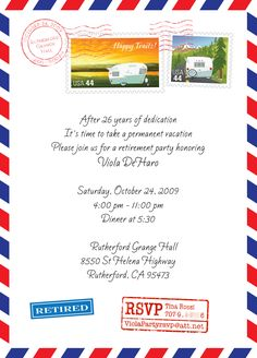Pleasant Retirement Party Invitation