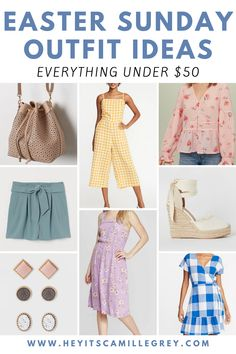 Easter Sunday Outfit Ideas. Everything youll need to find the perfect outfit for Easter! | Hey Its Camille Grey #easter #eastersunday #outfitinspiration #outfits #spring #under50