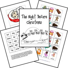 Twas the Night Before Christmas...free lapbook to have the students delve into the poem.  Will have to make it a bit more rigorous for my 5th graders, but this is a good start.