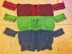 Off the Shoulder Crop top Crochet Summer Tops, Crochet Halter Tops, Crochet Shorts, Crochet Crop Top, Crochet Shawl, Crochet Clothes, Crochet Bikini, Moda Crochet, Diy Crochet