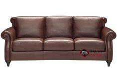 A297 Leather Sofa by Natuzzi shown in Matera Mahogany