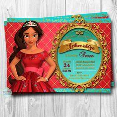 Elena of Avalor Invitation Elena of Avalor Invitations Elena
