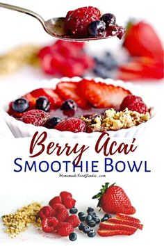 Acai Smoothie Bowl is a healthy, vegan, gluten free Breakfast or anytime pick me up! Full of antioxidants and so easy to make! Vegan Recipes Easy, Snack Recipes, Dessert Recipes, Icing Recipes, Blender Recipes, Ham Recipes, Oven Recipes, Avocado Recipes, Noodle Recipes