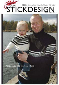 Raglantröja med randbård i Fuga Baby Barn, Lady, Sweaters, Tejidos, Jackets, Sweater, Sweatshirts, Pullover Sweaters, Pullover