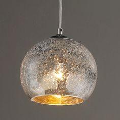 Mini Crackled Mercury Bowl Pendant Light - All For Decoration Mercury Glass Pendant Light, Glass Pendant Shades, Mini Pendant Lights, Glass Pendants, Glass Light Shades, Chandelier Shades, Kitchen Lighting Fixtures, Kitchen Pendant Lighting, Crystal Pendant Lighting