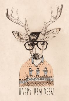 Hipster opposite day by Anita Goldstein, via Behance