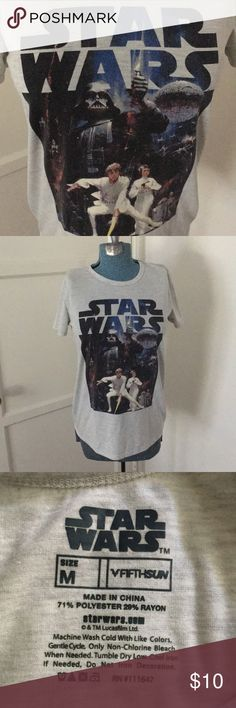 STAR WARS women's tee Super cute STAR WARS tee with vintage poster image. Size M Good condition. Star Wars Tops Tees - Short Sleeve