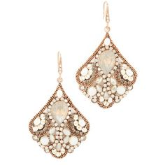 Theia Jewelry Cleopatra Chandelier Earrings ($180) ❤ liked on Polyvore featuring jewelry, earrings, gold, earring jewelry, swarovski crystal jewelry, chandelier earrings, chandelier jewelry and clear jewelry
