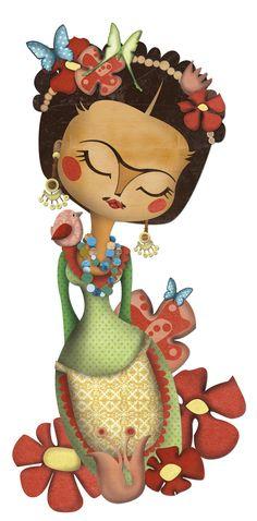 Frida Kahlo illustratión by Elena Catalán (Kipuruki)