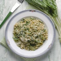 Swiss Chard Risotto Recipe - Food and Recipes - Mother Earth Living http://www.motherearthliving.com/food-and-recipes/recipes/swiss-chard-risotto-recipe-zmfz15jazhou.aspx