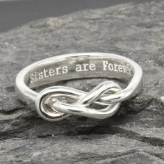 A personal favorite from my Etsy shop https://www.etsy.com/listing/265078628/infinity-ring-maid-of-honor-best-friend