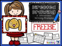 FREE - Directed drawing and differentiated writing prompts! Great for independent literacy centers. Whimsy Workshop Teaching