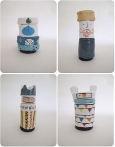 Sydney graphic designer Vanessa Bean's [real name Holle] Totems are beyond charming. The graphic influence of her profession is so evident in these adorable stacks of ceramics.  Vanessa discovered ceramics 2 years ago after doing a community college evening course in porcelain jewellery a