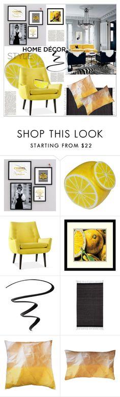 """Fruit Decor"" by dragananovcic ❤ liked on Polyvore featuring interior, interiors, interior design, home, home decor, interior decorating, Chanel, Jonathan Adler, Amanti Art and Stila"