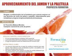 Curso de aprovechamiento del jamón y la paletilla. http://formacioncee.com/