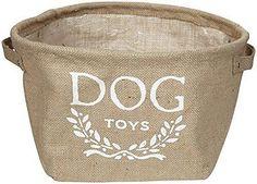 Eco- Friendly Dog Toy Storage Bin
