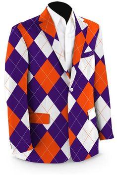 Mens Sport Coats by Loudmouth Golf - Purple & Orange Argyle.  Buy it @ ReadyGolf.com