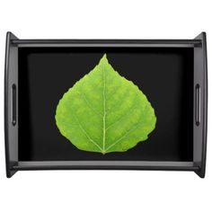 Green Aspen Leaf #11 Serving Tray - spring gifts style season unique special cyo
