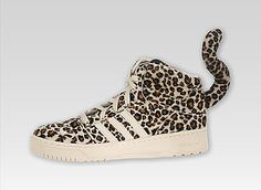 OMG these are crazy, Jeremy Scott Leopard Tail Adidas shoes