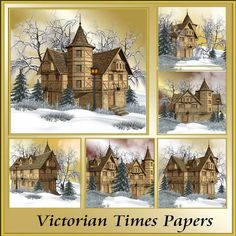 Victorian Times Papers by Christine Hart Victorian Times Papers is a collection of beautiful winter themed backgrounds for all your creative designs there are 6 stunning backgrounds in this pack 8x8 making them suitable to size for your own needs