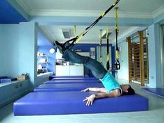TRX Hamstring Curl and Leg Beats.MOV #legs #training #trx