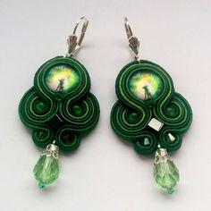 Soutache Earrings green