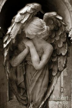 Guardian Angel in Prayer by Kathy Fornal