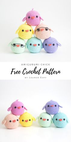 I'm excited to share this free crochet pattern so you can make all the little amigurumi chicks til your heart's content! They're so easy to whip up and make the perfect little toys for Easter baskets! Crochet Amigurumi Free Patterns, Crochet Animal Patterns, Stuffed Animal Patterns, Crochet Stitches, Diy Crochet Animals, Knit Animals, Crochet Keychain Pattern, Crochet Animal Amigurumi, Crochet Bunny Pattern