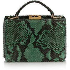 Mark Cross Grace small python shoulder bag ($4,005) ❤ liked on Polyvore featuring bags, handbags, shoulder bags, real leather handbags, coin purse, genuine leather handbags, snakeskin handbags and cell phone shoulder bag