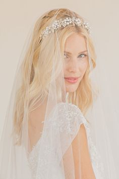REBECCA  Two tier circle cut veil with raw edge  by UntamedPetals, $275.00