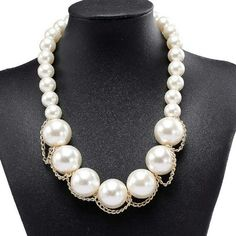 5ecfd5ced65d Pearl Gold Drape Necklace Proveedor