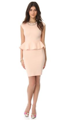 alice + olivia Victoria Peplum Dress with the shoes are a great coupling.    I love it!