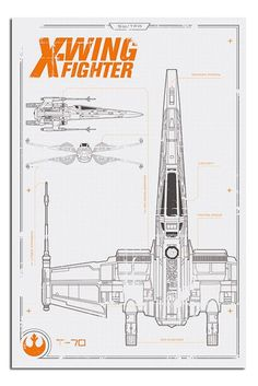 Star Wars Episode 7 X Wing Plans Poster