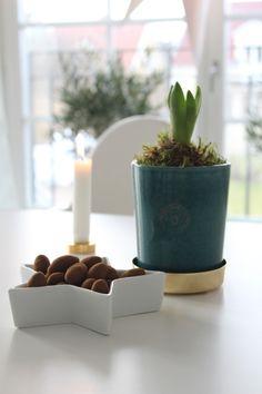 Green pot with brass dish, Svenskt Tenn | Starwoman