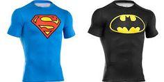 Amazing batman and superman under armour compression shirts!!! ❤️❤️❤️❤️