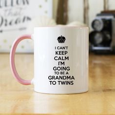 I Can't Keep Calm I'm Going To Be A Grandma To Twins! Great coffee mug gift for your pregnancy reveal or to announce to someone special that you're expecting twins. See the Pregnancy Announcement sect Twin Girls, Twin Babies, Twins Announcement, Pregnancy Announcements, Expecting Twins, How To Have Twins, Everything Baby, Baby Time, Reveal Parties