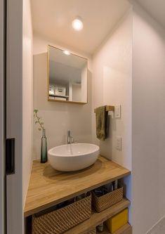 Minimal Home, Washroom, Basin, Minimalism, Toilet, Vanity, Mirror, Interior, House