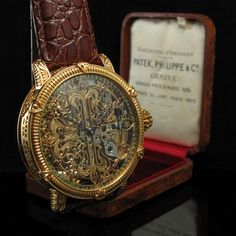 MASTERPIECE! Mens 1908 PATEK, PHILIPPE & Cie - GENEVE Vintage SKELETON Watch with CALATRAVA CROSS