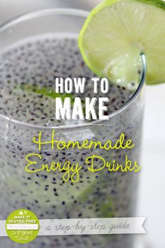 How to Make Homemade Energy Drinks and Giveaway {Beard and Bonnet}