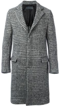 Route Des Garden houndstooth pattern coat