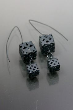 Youngjoo yoo, The double cube earring sterling silver Ready to ship by yjjewelry