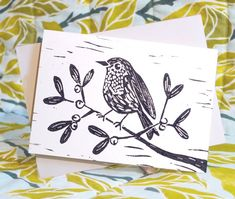 These beautiful Christmas cards are individually hand printed in Sheffield, UK. This listing is for one portrait, robin design Christmas card, however, packs of 6 cards and the other designs of a robin and partridge are available in my shop (or you can message me!). Cards are A6