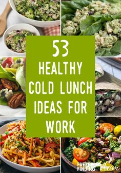 Do you think brown bagging your lunch is boring? These 53 Healthy Cold Lunch Ideas For Work will show you that saving money and calories by packing your lunch can be pretty darn exciting and delicious! Most of these recipes are super simple to make and can be whipped up in minutes which makes them perfect cheap healthy meals for college students too.