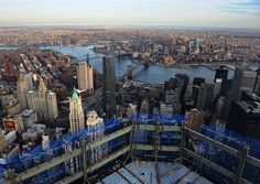 View for the Top of the Freedom Tower at the World Trade Center as of March 2012.  Amazing!