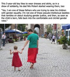 A true supporting dad…wonder how many dads I know would have some ridiculously machismo problem with this.....