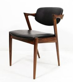Kai Kristiansen Rosewood and Leather Chairs 2 $1400 ea