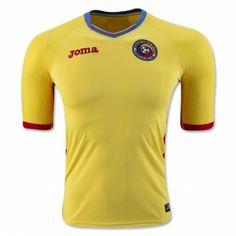 49025f55e5 £19.99 Romania Home Shirt 2016 Equipamentos De Futebol